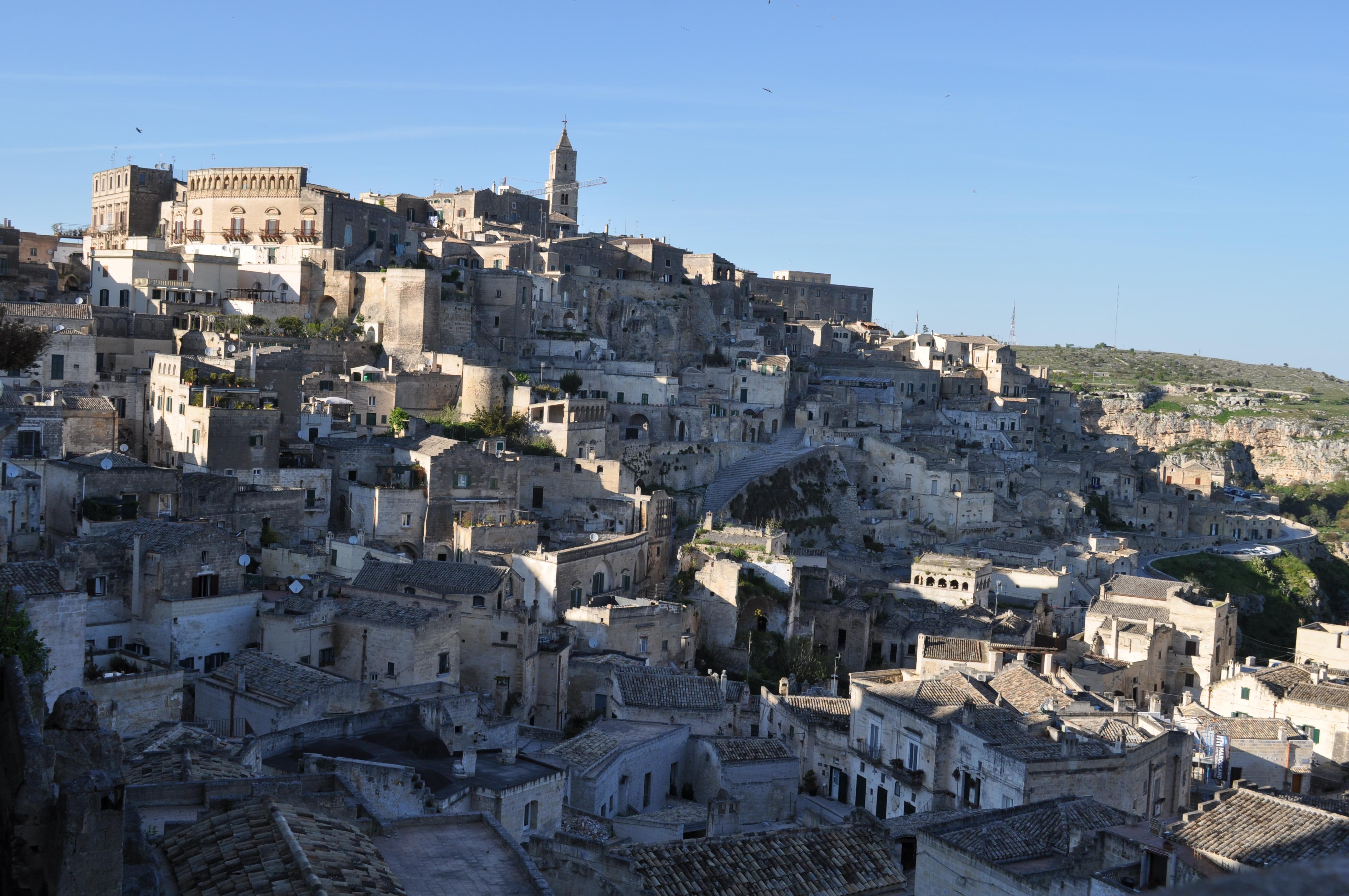 Matera - Vista da Piazzetta Pascoli