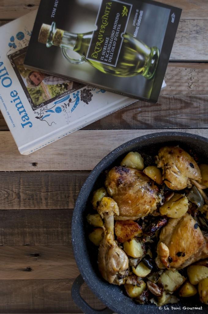 Cosce di pollo, patate, carciofi - Jamie Oliver