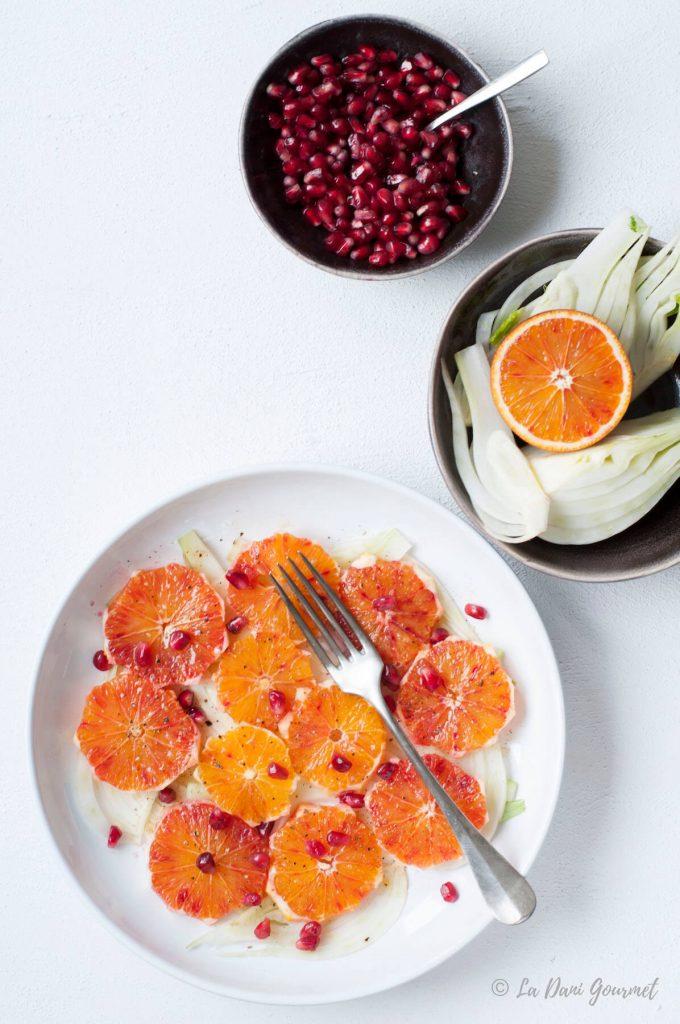 Insalata di arance, finocchi e melograno